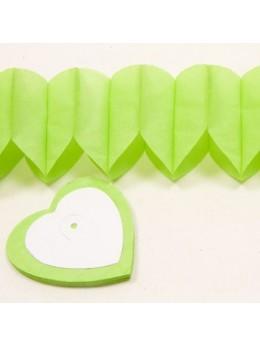 Guirlande coeur vert anis 6m