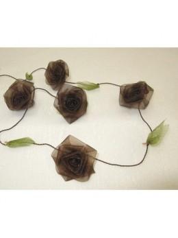 Guirlande de roses chocolat