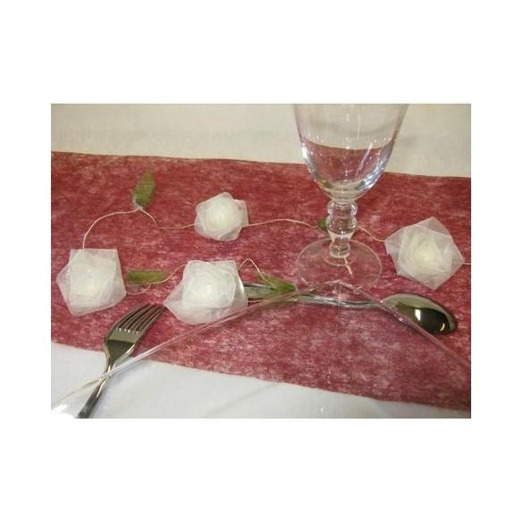 Guirlande de roses ivoires