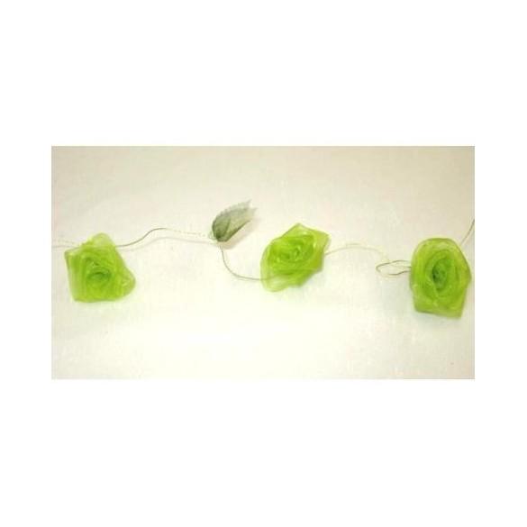 Guirlande de roses vert anis