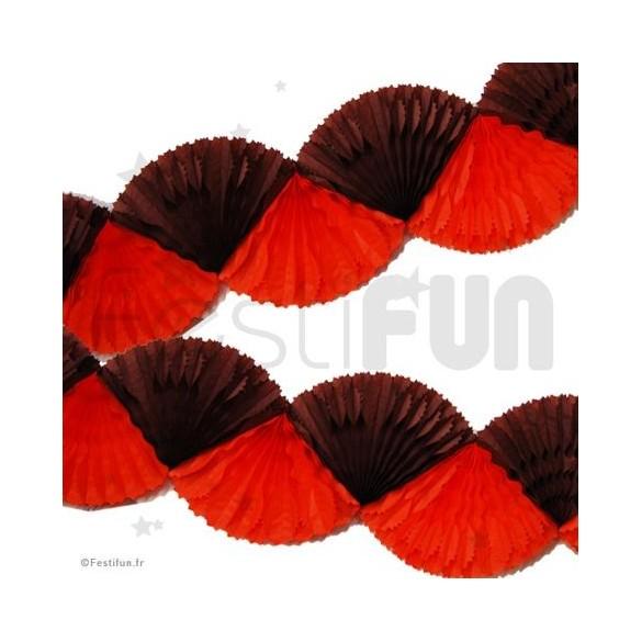Guirlande éventail chocolat et orange