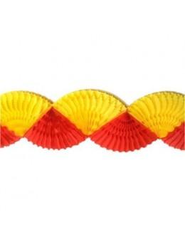 Guirlande éventail Espagne rouge et jaune