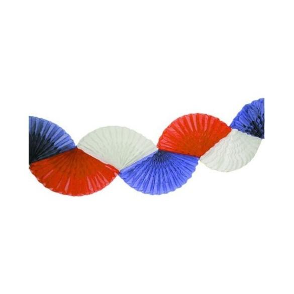 Guirlande éventail tricolore