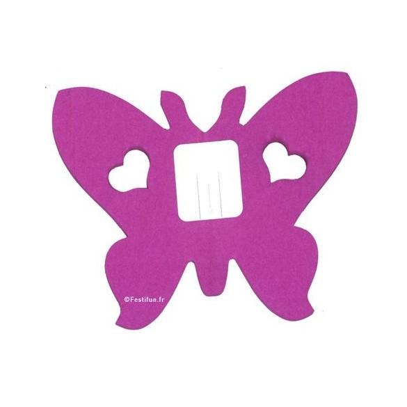 guirlande papillon aubergine