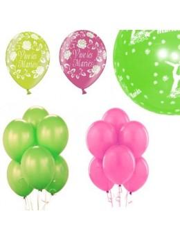 Kit ballons mariage fuchsia vert