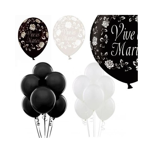 kit de ballons sp cial pour mariage d coration de salle. Black Bedroom Furniture Sets. Home Design Ideas