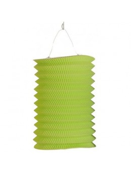 Lampion cylindrique vert