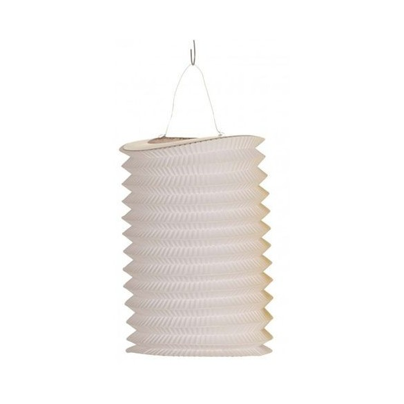 Lampion cylindrique blanc 16cm