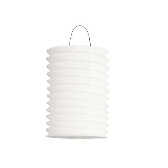 12 Lampions cylindriques blanc 16cm