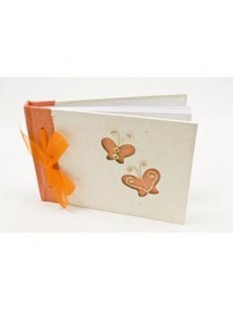 Livre d'or papillon orange