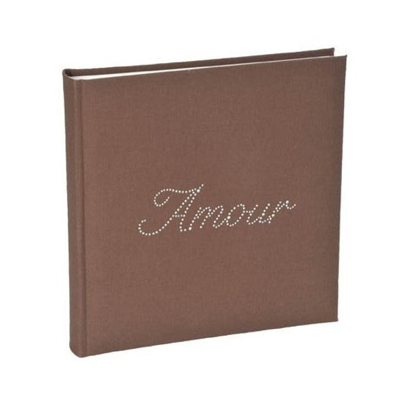 Livre d'or strass Amour chocolat