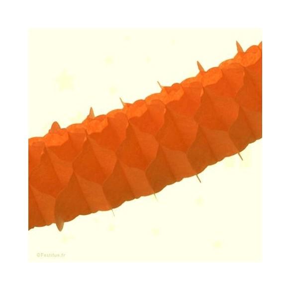 Lot 3 guirlandes mini orange