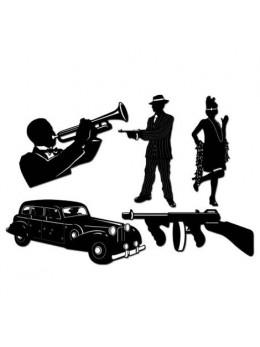 Lot 5 décos gangsters