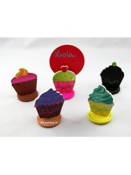 Lot de 6 marques Place cupcake