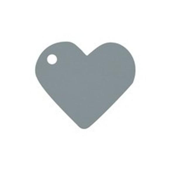 10 Marque place coeur argent