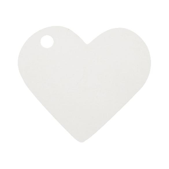 10 Marque place coeur blanc