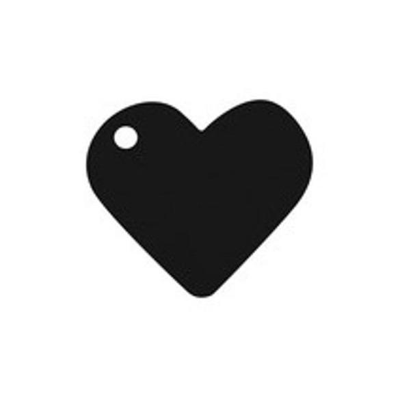 10 Marque place coeur noir