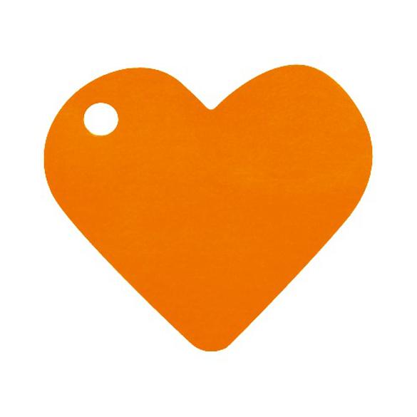 10 Marque place coeur orange