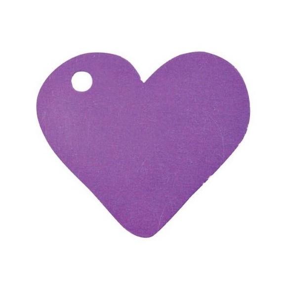 10 Marque place coeur prune
