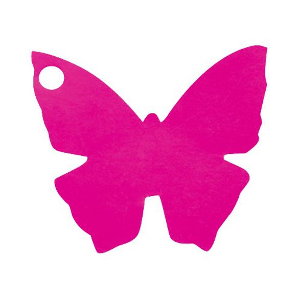 10 Marque place papillon fuchsia