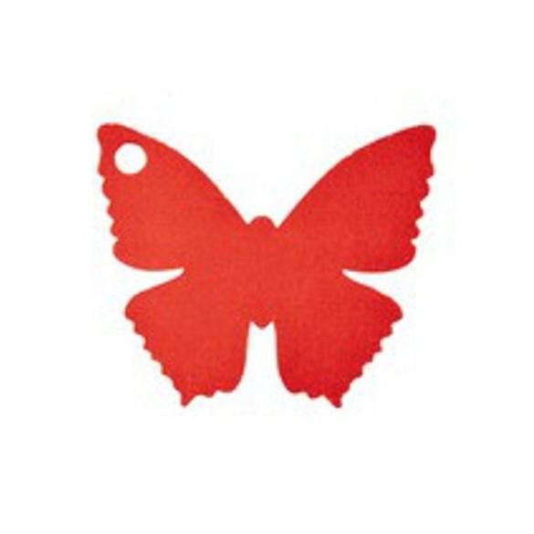 10 Marque place papillon rouge