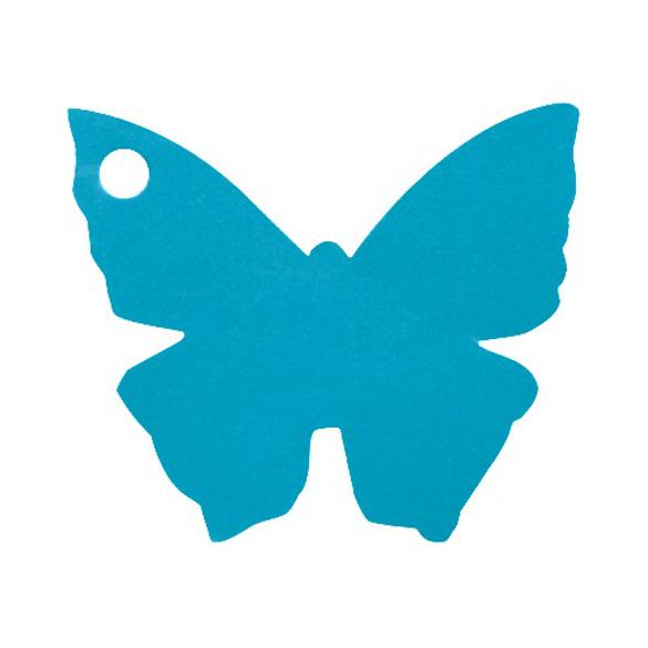 10 Marque place papillon turquoise