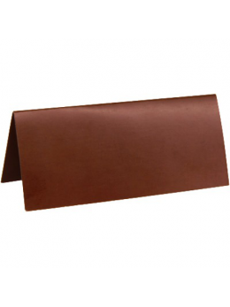 10 Marque place rectangle chocolat