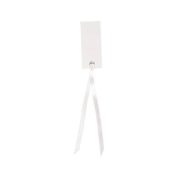 12 Marque place rectangle ruban blanc