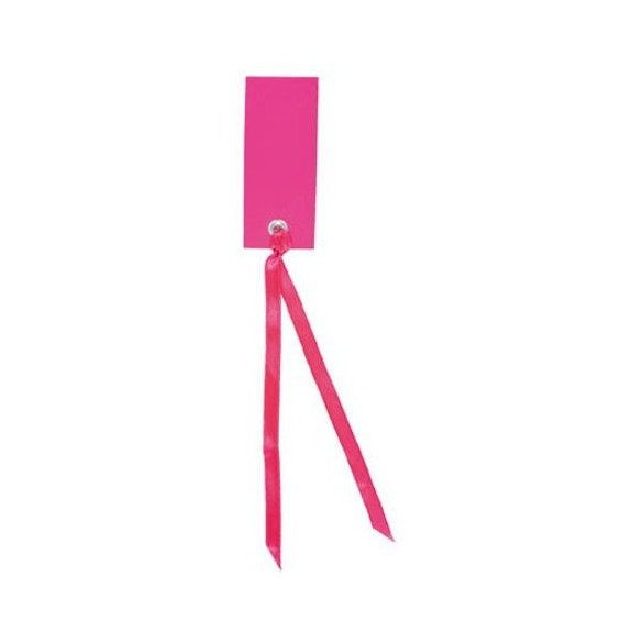 12 Marque place rectangle ruban fuchsia