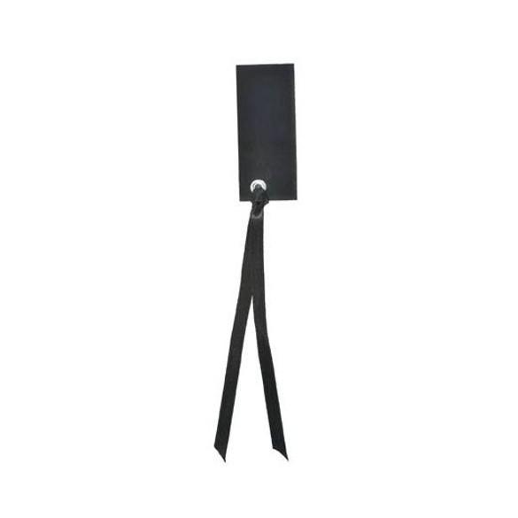 12 Marque place rectangle ruban noir