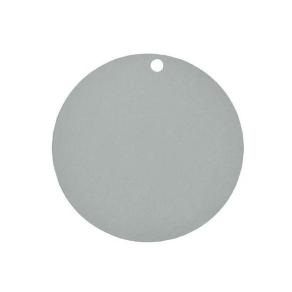 10 Marque place rond gris