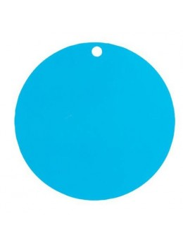 Marque place rond turquoise