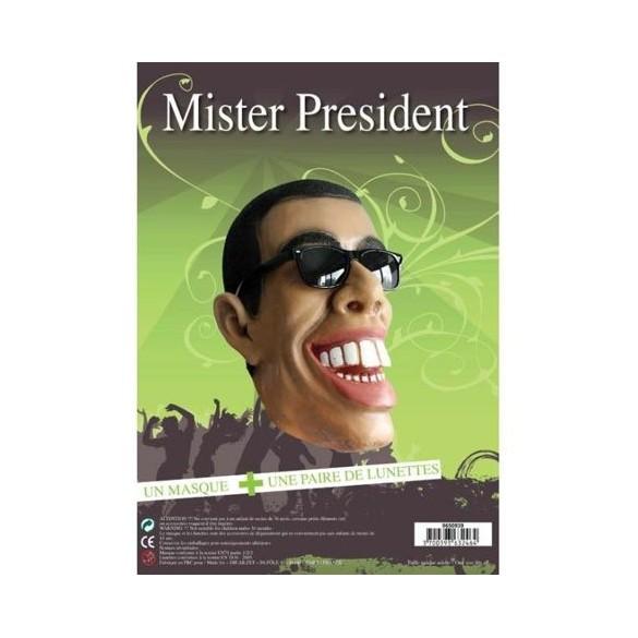 Masque Mister Obama + lunettes