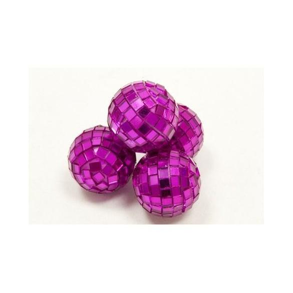 Mini boules à facette fuchsia