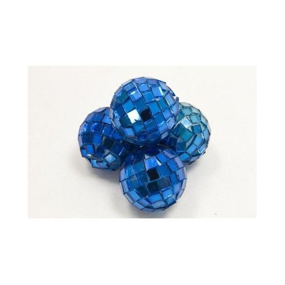 Mini boules à facette turquoise