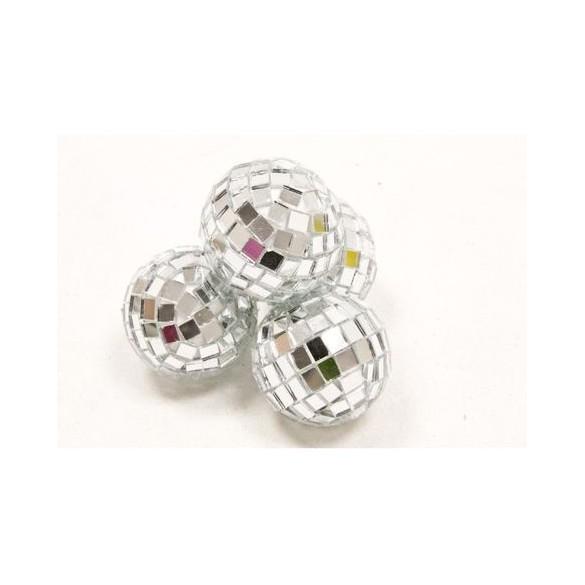 Mini boules à facettes argent