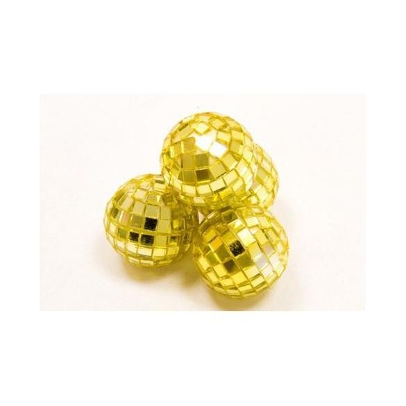 Mini boules à facettes or