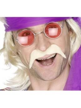 Moustache 70's blonde