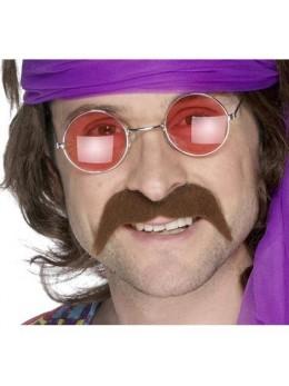 Moustache 70's marron