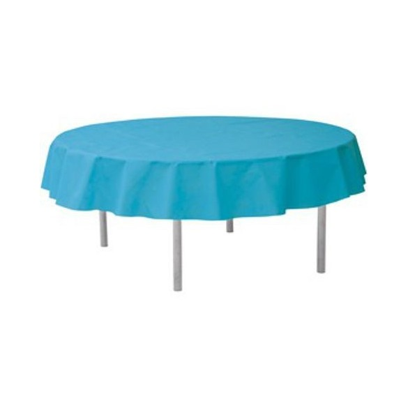Nappe ronde intissé turquoise