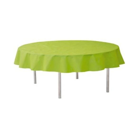 Nappe ronde intissé vert kiwi