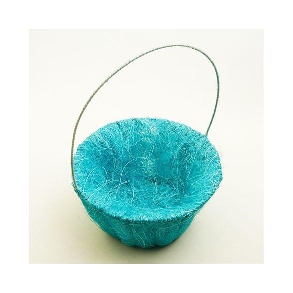 Panier sisal turquoise