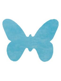 Confetti Papillons non tissé turquoise