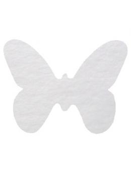 Confetti Papillons non tissés blanc