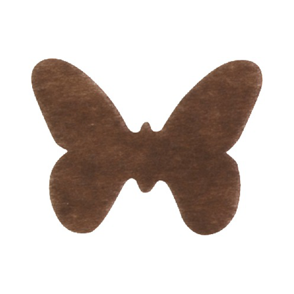 Confetti Papillons non tissés chocolat
