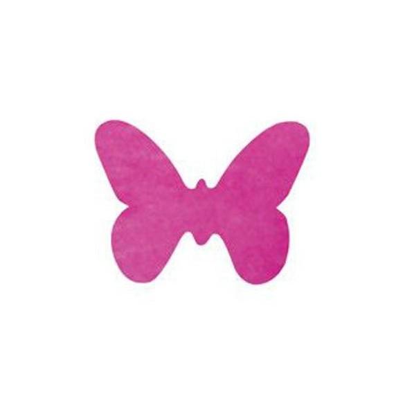 Confetti Papillons non tissés fuchsia