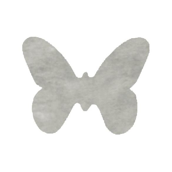 Confetti Papillons non tissés gris