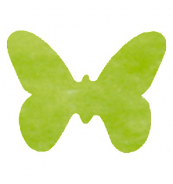 Confetti Papillons non tissés vert