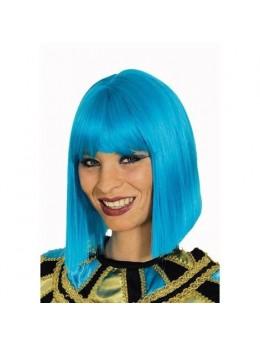 Perruque coco turquoise