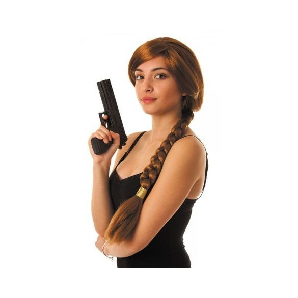 Perruque Lara croft